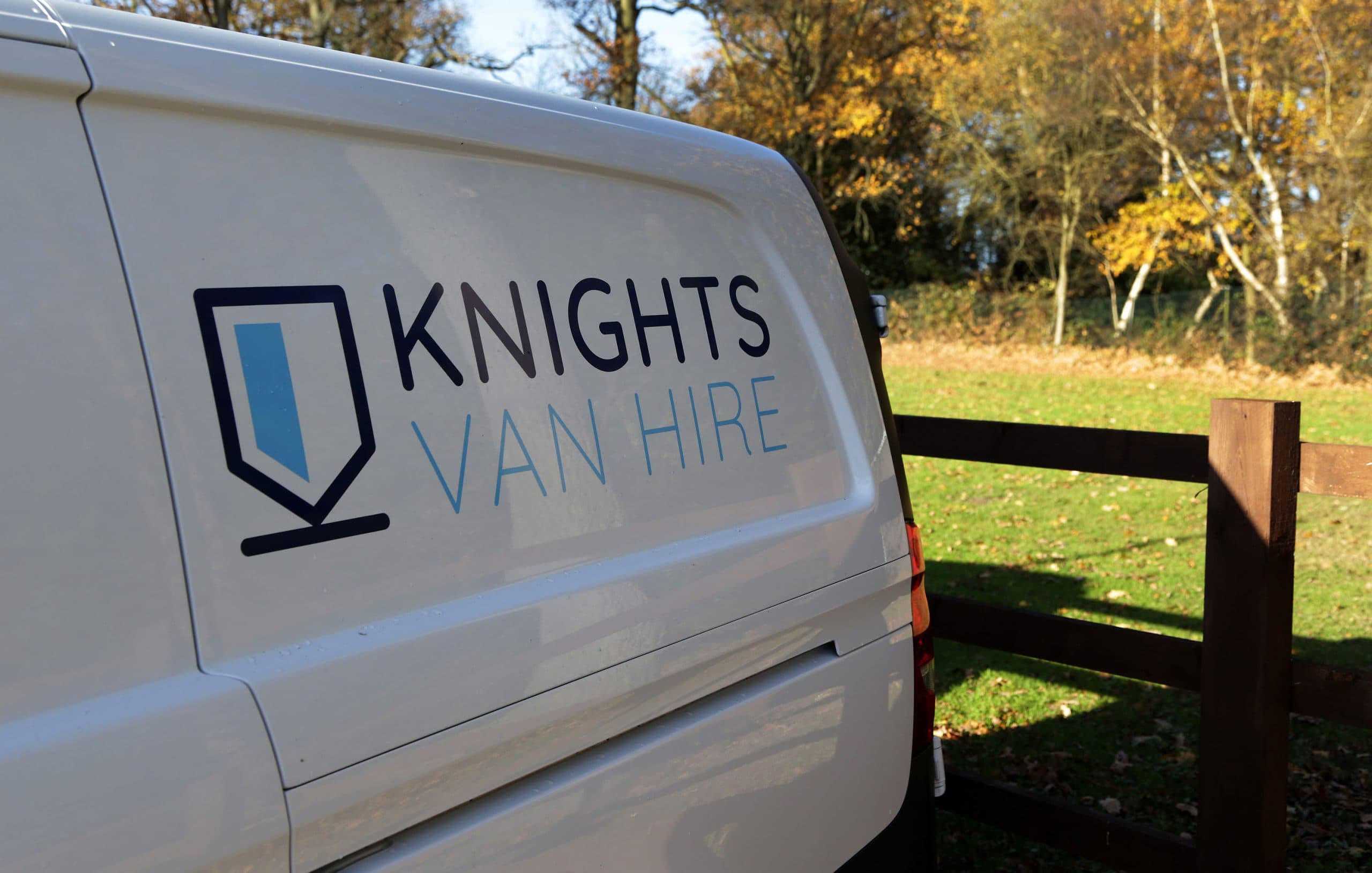 Knights Van Hire logo on van